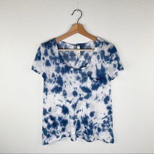 Live Love Dream Blue Tie Dye Knit Shirt